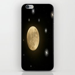 Moon is on iPhone Skin