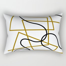 Sophie Taeuber-Arp - Lines hook - Digital Remastered Edition Rectangular Pillow