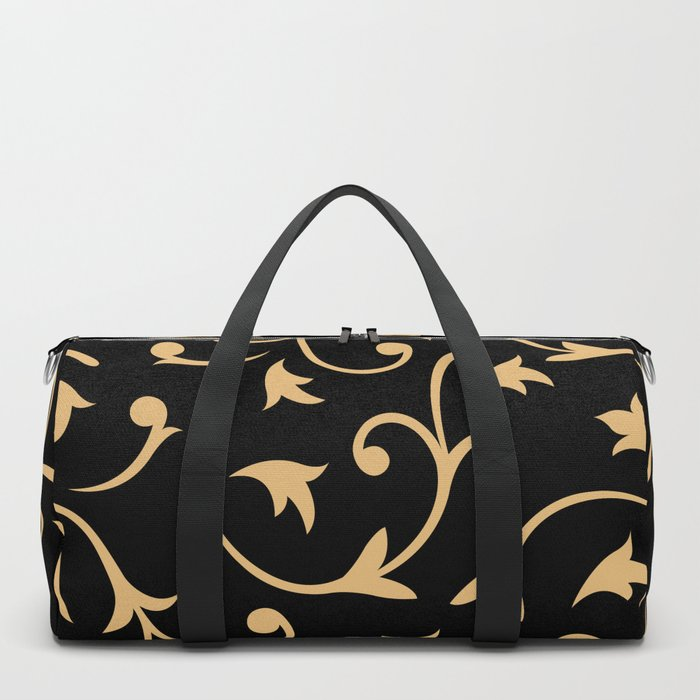 Baroque Design – Gold on Black Duffle Bag