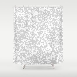Small Spots - White and Light Gray Shower Curtain
