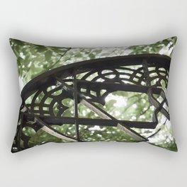 Garden Window Detail at Alcazar of Seville Rectangular Pillow