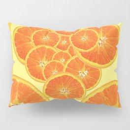 CONTEMPORARY ORANGE SLICES  ABSTRACT MODERN ART Pillow Sham