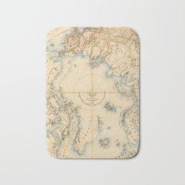 Map of the Arctic and Adjacent Regions (1855) Bath Mat