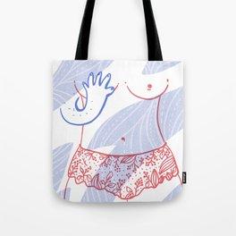 Naked breast Tote Bag