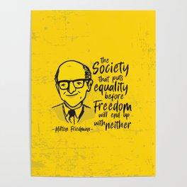 Milton Friedman Poster