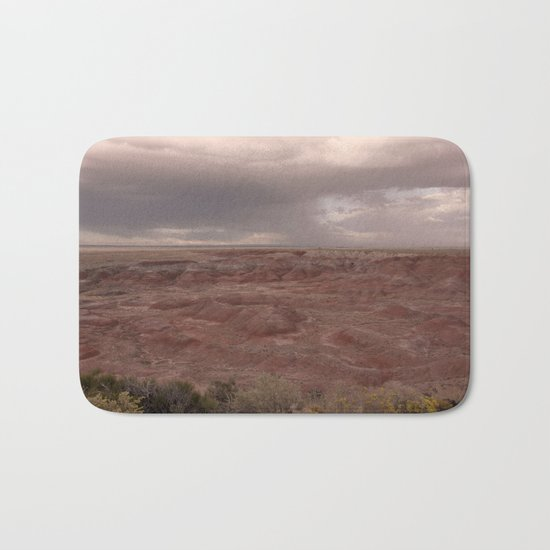 Desert Rain Clouds Bath Mat