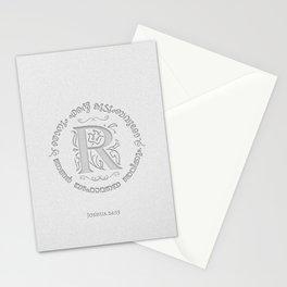 Joshua 24:15 - (Letterpress) Monogram R Stationery Cards