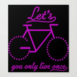 Bike Life Canvas Print