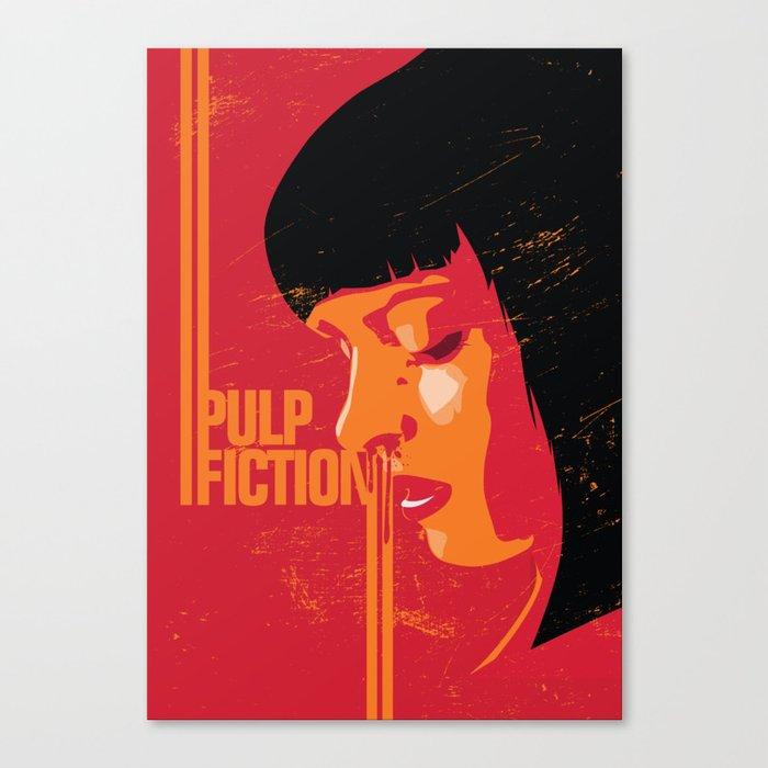 Mia Wallace Pulp Fiction Poster Art Print Movie Show Minimalistic Illustration Canvas Print By Lautstarke Society6