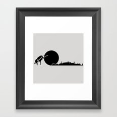 dung beetle Framed Art Print