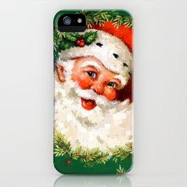 Jolly Ole Santa Pixel iPhone Case