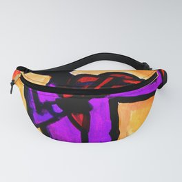 Silhouette Violinist Oval Fanny Pack