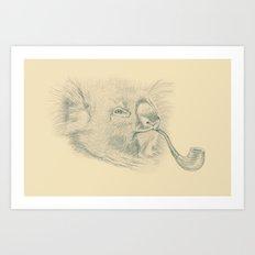 Koala with Pipe Art Print