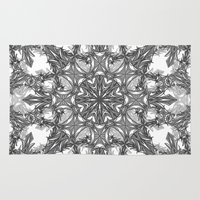 snowflake Area & Throw Rugs featuring Snowflake   by ArtLovePassion
