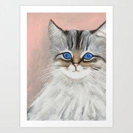 Siberian Kitten Art Print