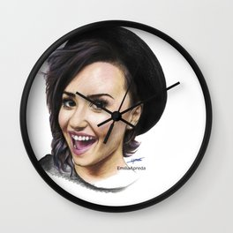 Demi Coloured Pencil Drawing Wall Clock