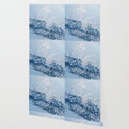 Sparkling Classic Blue Ocean Lady Glitter #1 (Faux Glitter) #shiny #decor #art #society6 Wallpaper