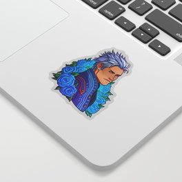 Vergil | Cyan Rose | DMC5 Sticker