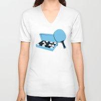 forrest gump V-neck T-shirts featuring Forrest Gump by FilmsQuiz