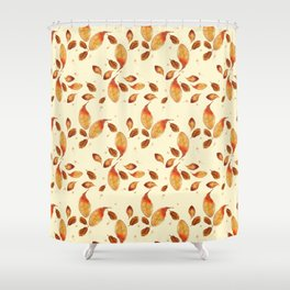 Scattered Autumn Leaves Shower Curtain