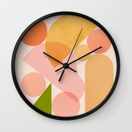Abstraction_SHAPES_COLOR_Minimalism_002 Wall Clock