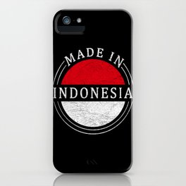 Vintage Made In Indonesia iPhone Case