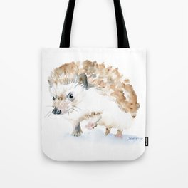 Hedgehog Watercolor Tote Bag