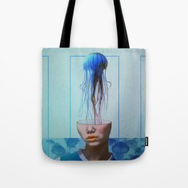 Jellyfish blue. Tote Bag