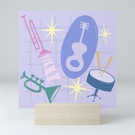 Django Jazz Composition In Purple Mini Art Print