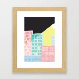 Moonlit Cityscape Framed Art Print
