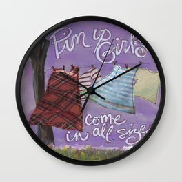 Pin Up Wall Clock