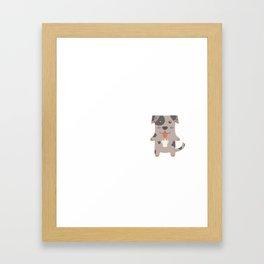 My Catahoula Leopard Dog Makes Me Happy Framed Art Print
