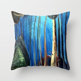 Emily Carr - Blue Sky - Canada, Canadian Oil Painting - Group of Seven Throw Pillow