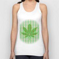 marijuana Tank Tops featuring Marijuana Leaf by Trusty Russ Tees