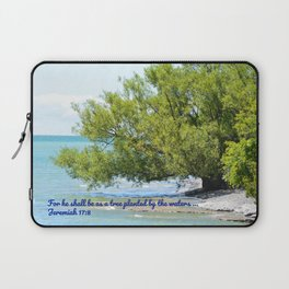 Tree By The Water With Scripture Quote Laptop Sleeve