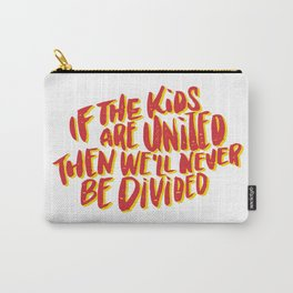 Kids United - White Carry-All Pouch