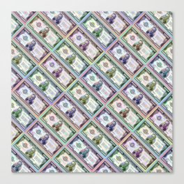 240 Million Dollars Slanted Money Bling Cash Dollar Bills Loot Coin Canvas Print