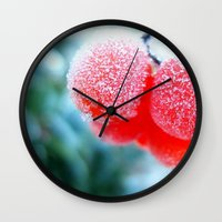 frozen Wall Clocks featuring Frozen by Antonia Elena