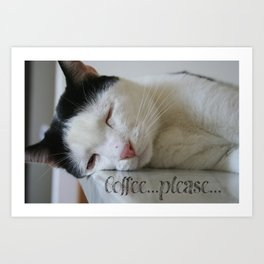 Sleepy kitty Art Print