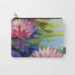 Pond and Lily Carry-All Pouch