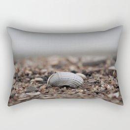 shell on the sandy shore Rectangular Pillow