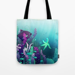 Deep down in the water Tote Bag
