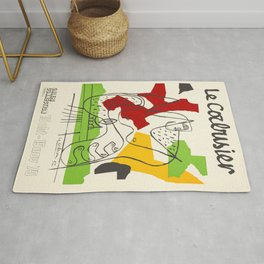 Le Corbusier - Vintage french exhibition poster Rug