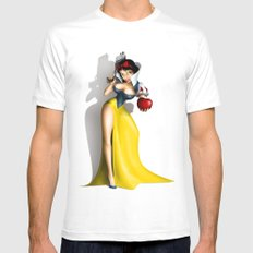 Snow White Mens Fitted Tee White MEDIUM