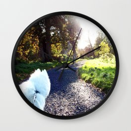 Ivanna the Samoyed Wall Clock