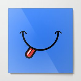 Blue Smiley Face  Metal Print