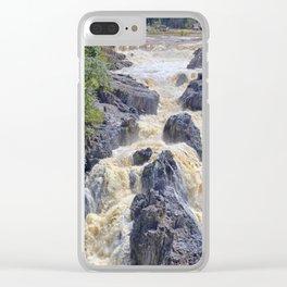 Powerful Barron Falls Clear iPhone Case
