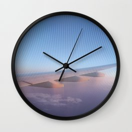 Flying High at Sunset Wall Clock