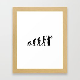 Lady Justice Evolution Lawyer Judge Law Framed Art Print