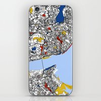 mondrian iPhone & iPod Skins featuring Lisbon mondrian by Mondrian Maps